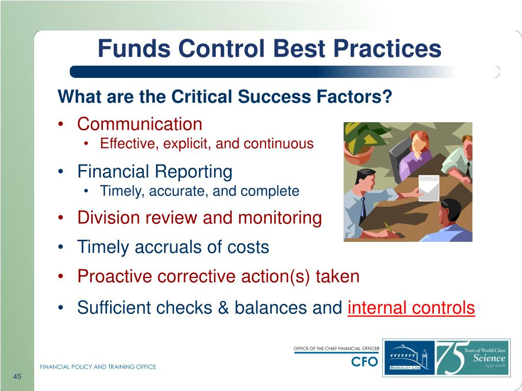 Funds Control Best Practices