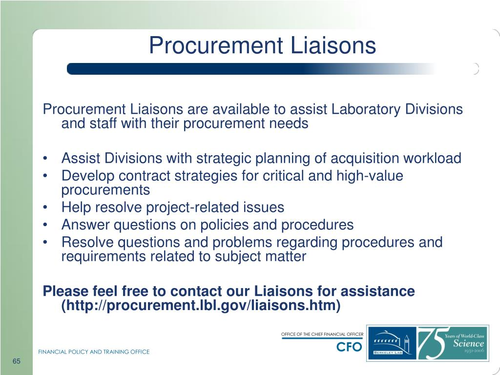 Procurement Liaisons