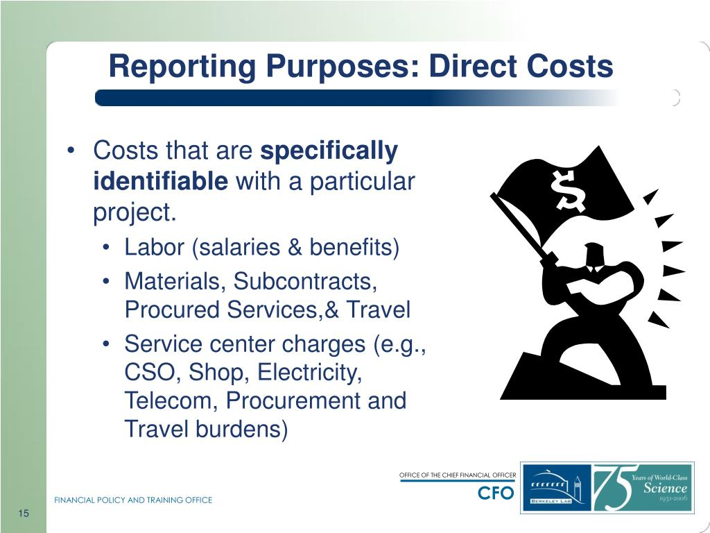 Reporting Purposes: Direct Costs
