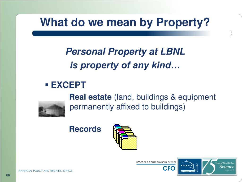 What do we mean by Property?