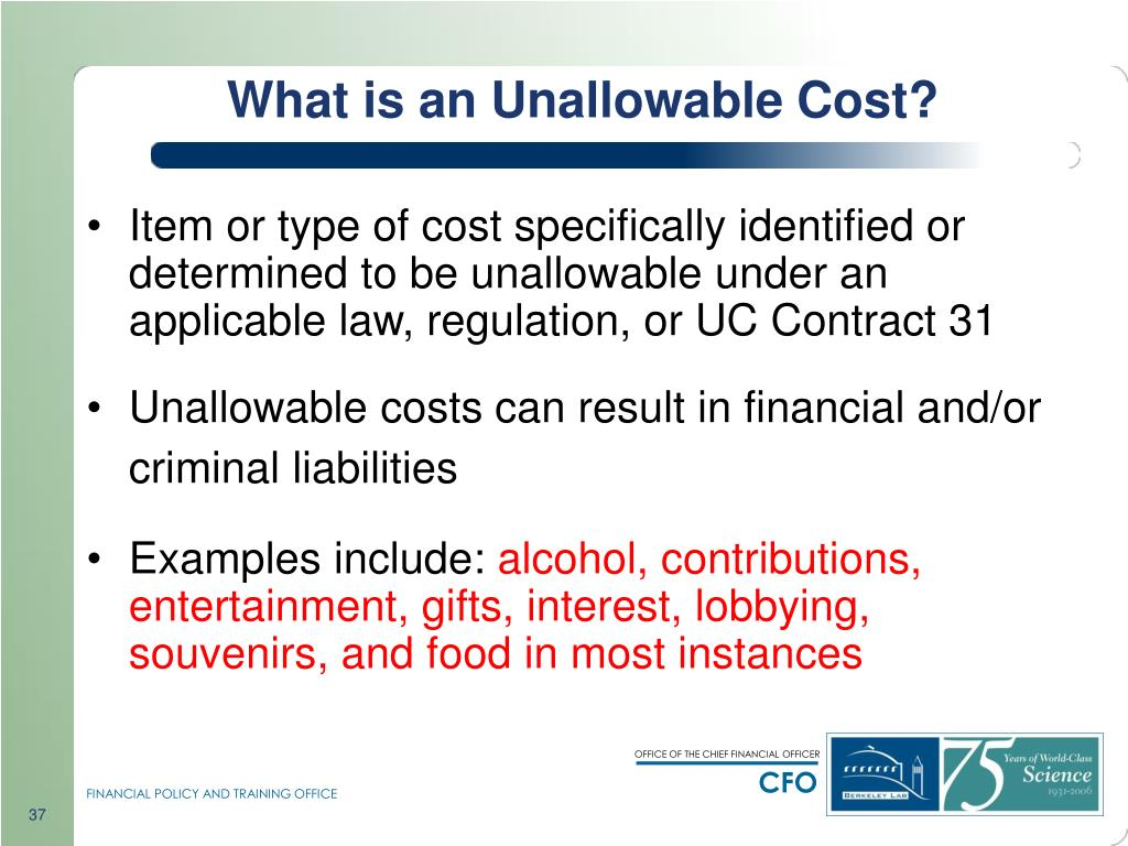 What is an Unallowable Cost?