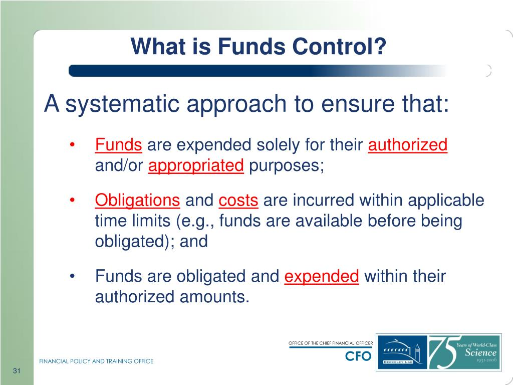 What is Funds Control?