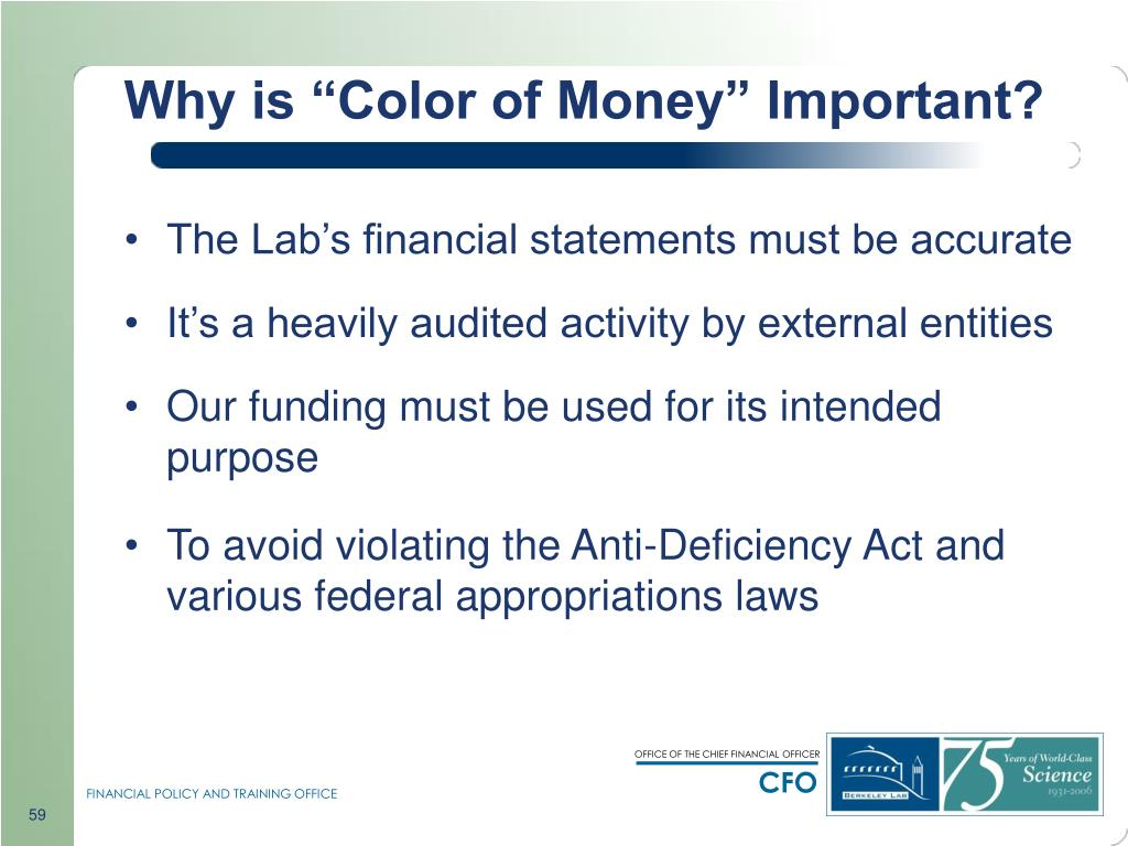 "Why is ""Color of Money"" Important?"