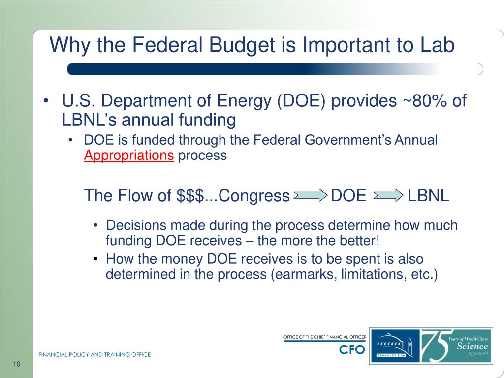 Why the Federal Budget is Important to Lab