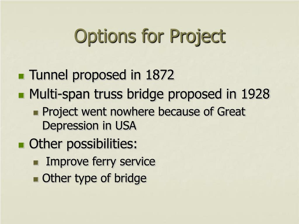 Options for Project