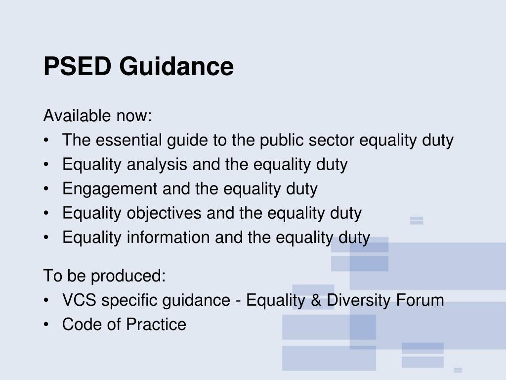 PSED Guidance