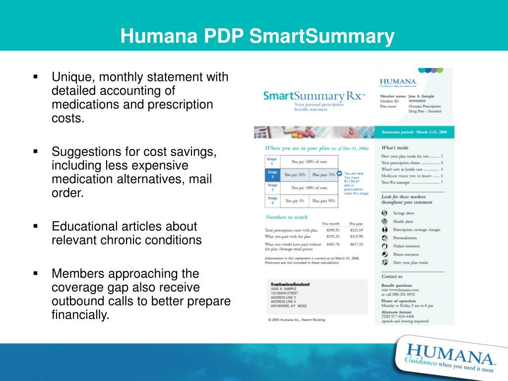 Humana PDP SmartSummary