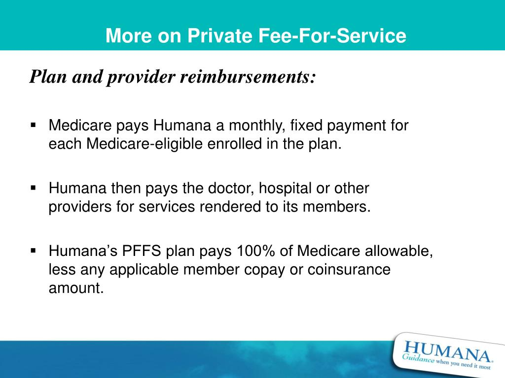 More on Private Fee-For-Service