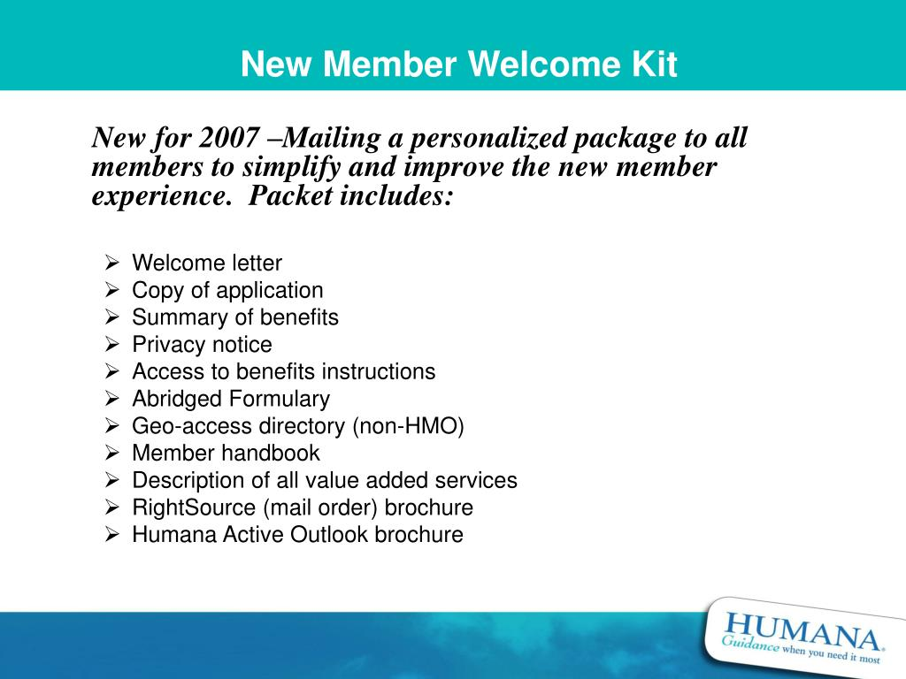 New Member Welcome Kit