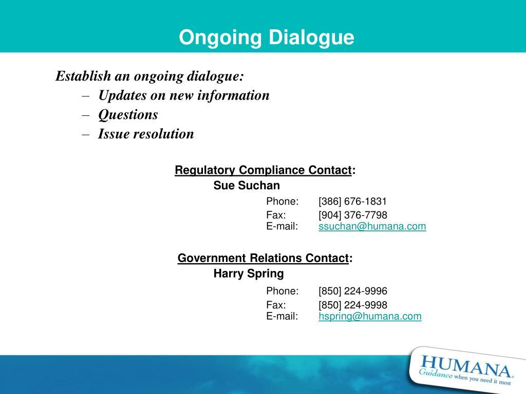 Ongoing Dialogue