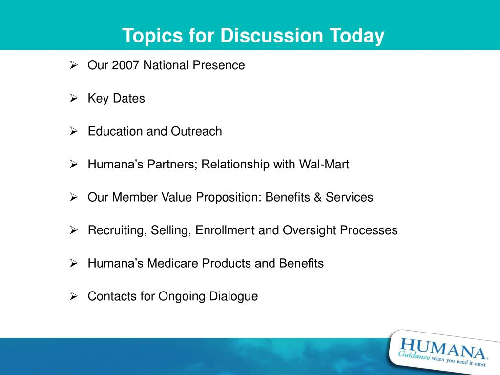 Topics for Discussion Today
