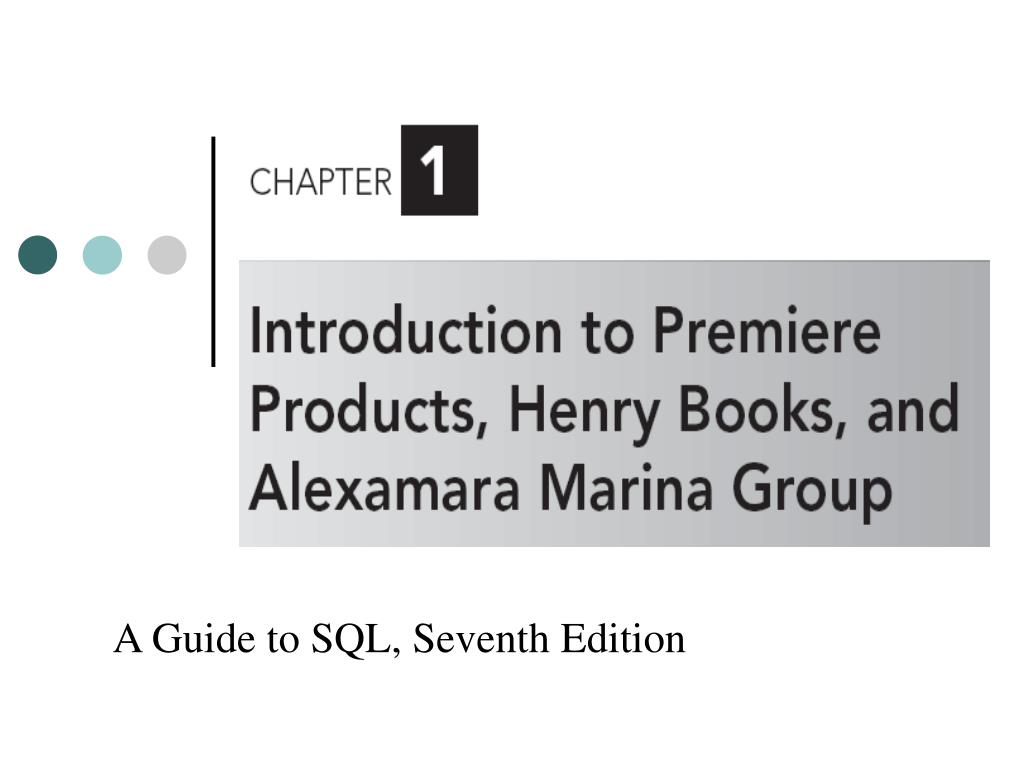 a guide to sql seventh edition