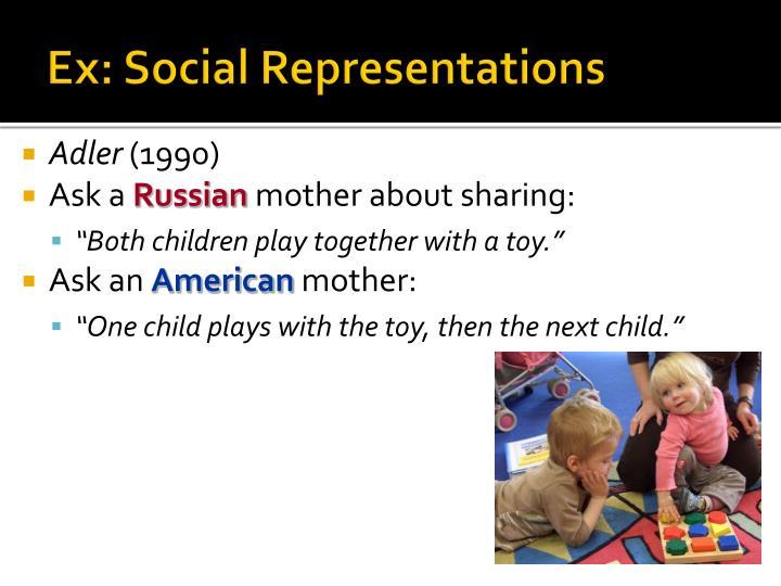 Ex social representations