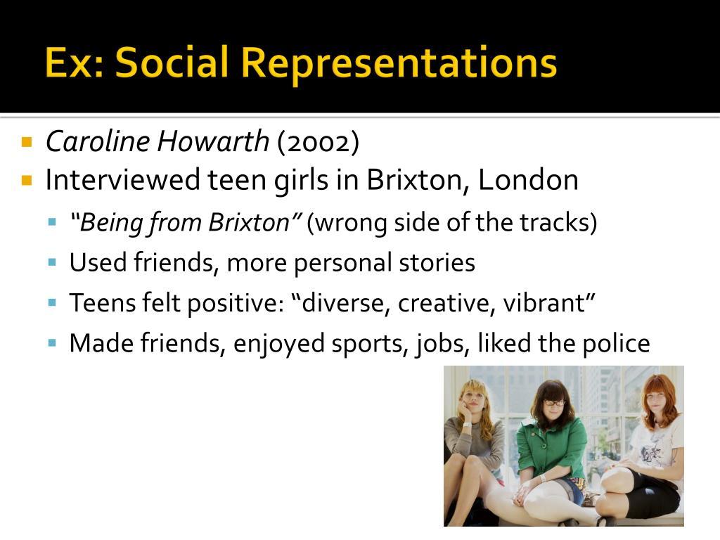 Ex: Social Representations