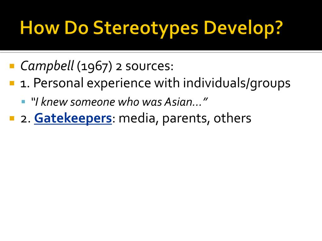 How Do Stereotypes Develop?
