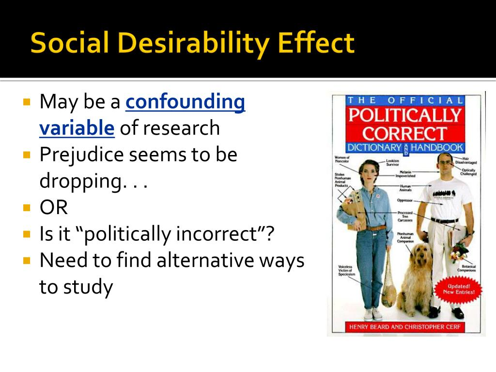 Social Desirability Effect