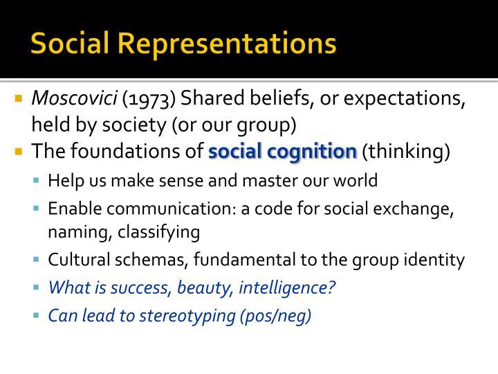Social representations