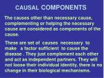 causal components