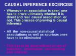 causal inference excercise
