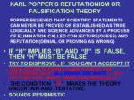 karl popper s refutationism or falsification theory