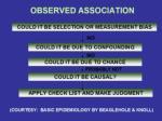 observed association