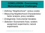 conclusion overcoming methodological challenges