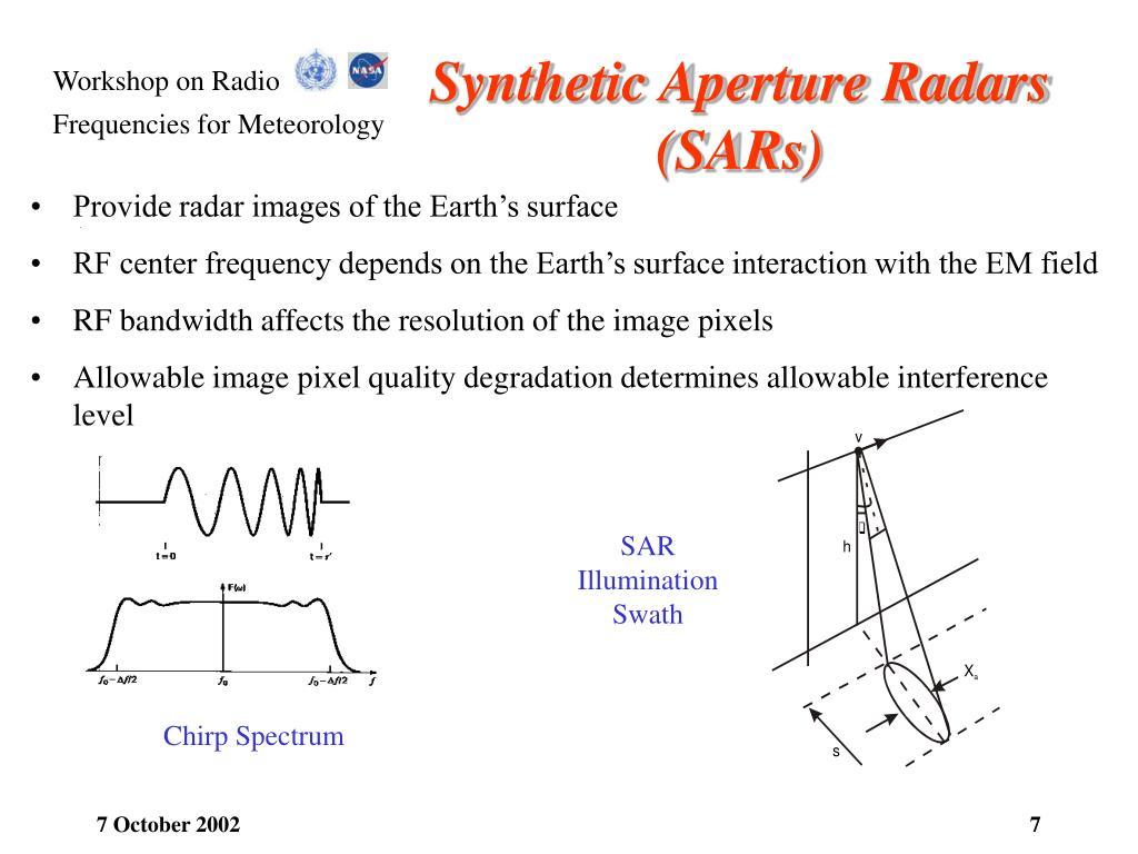 Synthetic Aperture Radars (SARs)