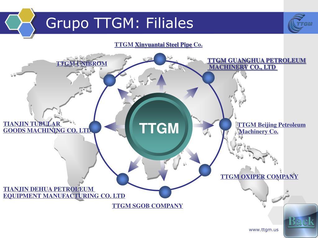 Grupo TTGM: Filiales