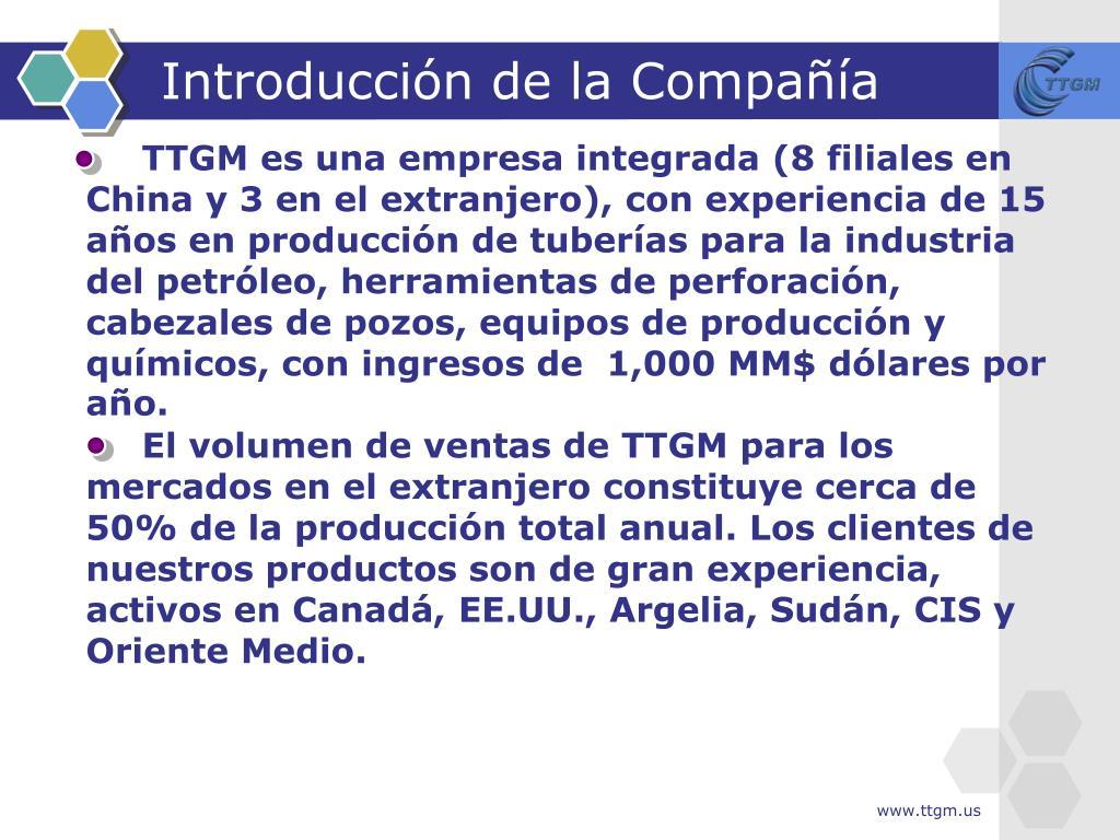 Introducción de la Compañía