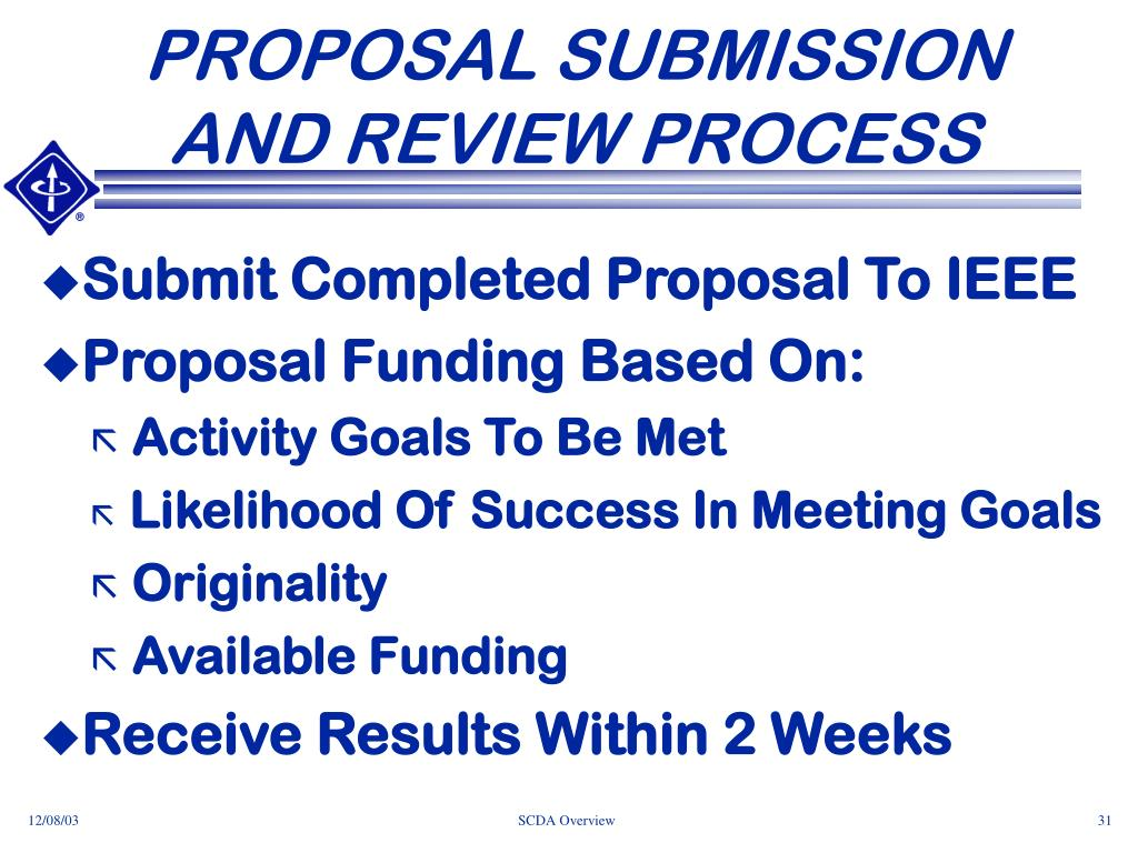 PROPOSAL SUBMISSION AND REVIEW PROCESS