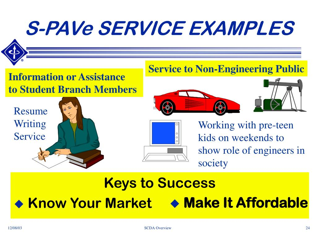 S-PAVe SERVICE EXAMPLES