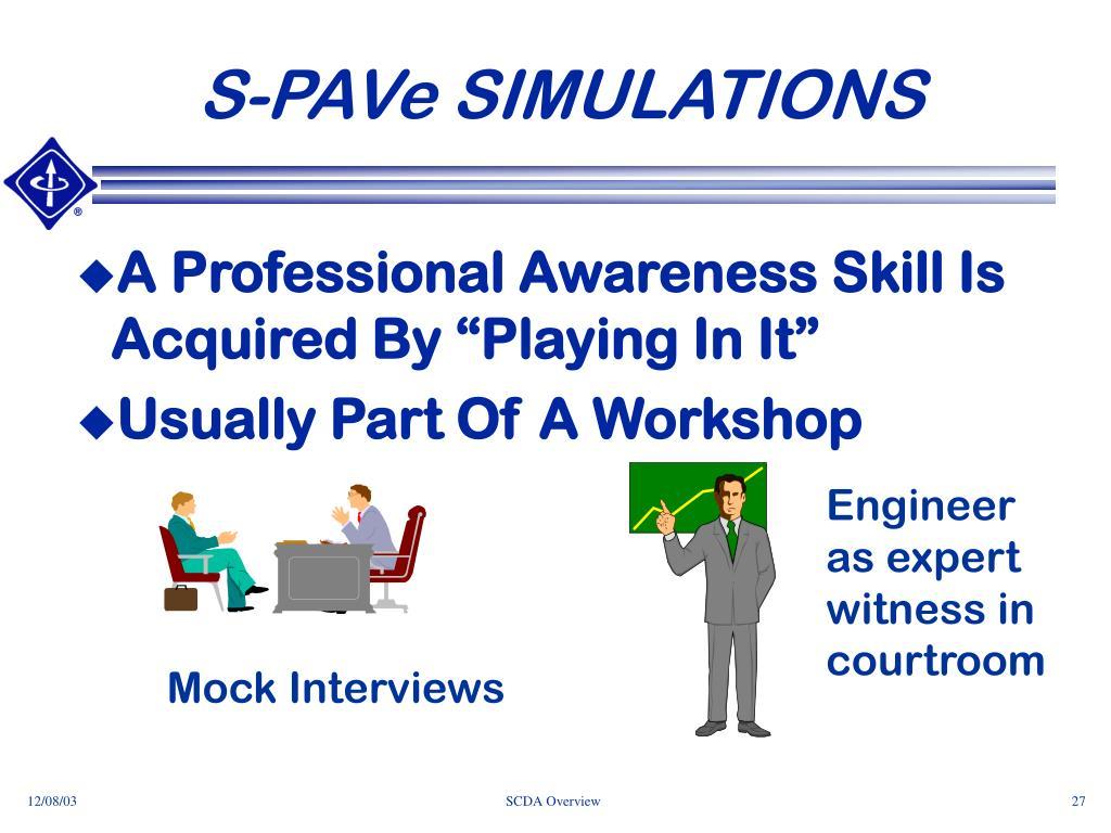 S-PAVe SIMULATIONS