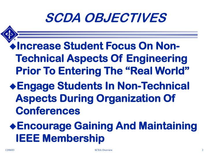 Scda objectives