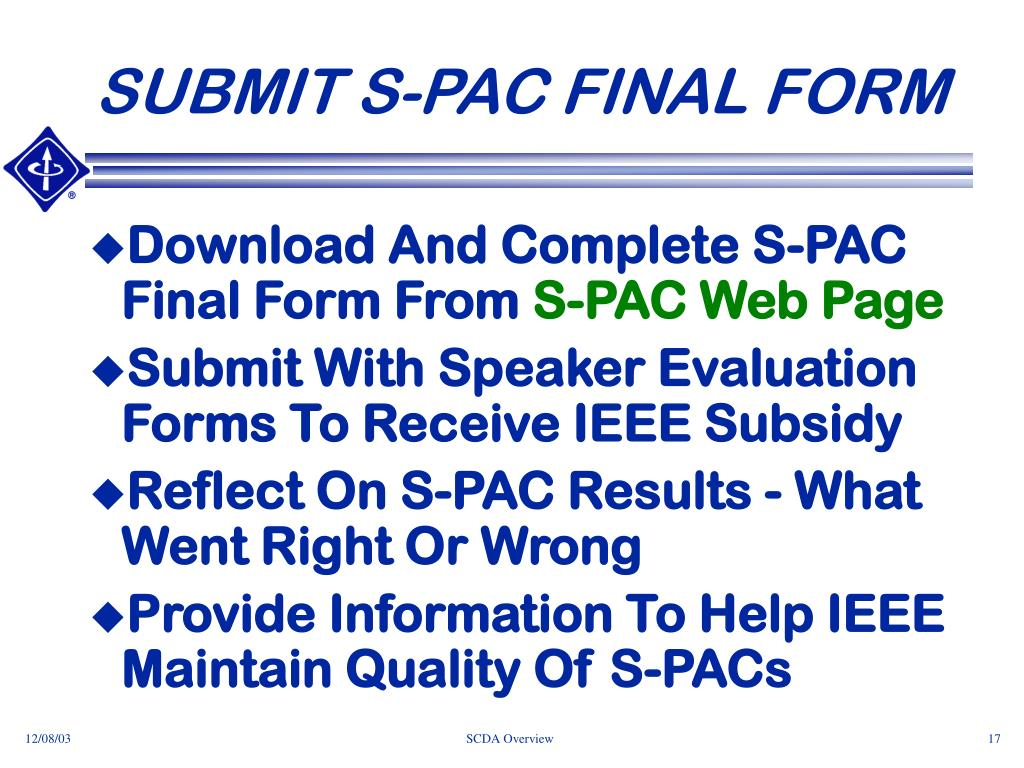 SUBMIT S-PAC FINAL FORM