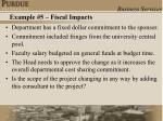 example 5 fiscal impacts