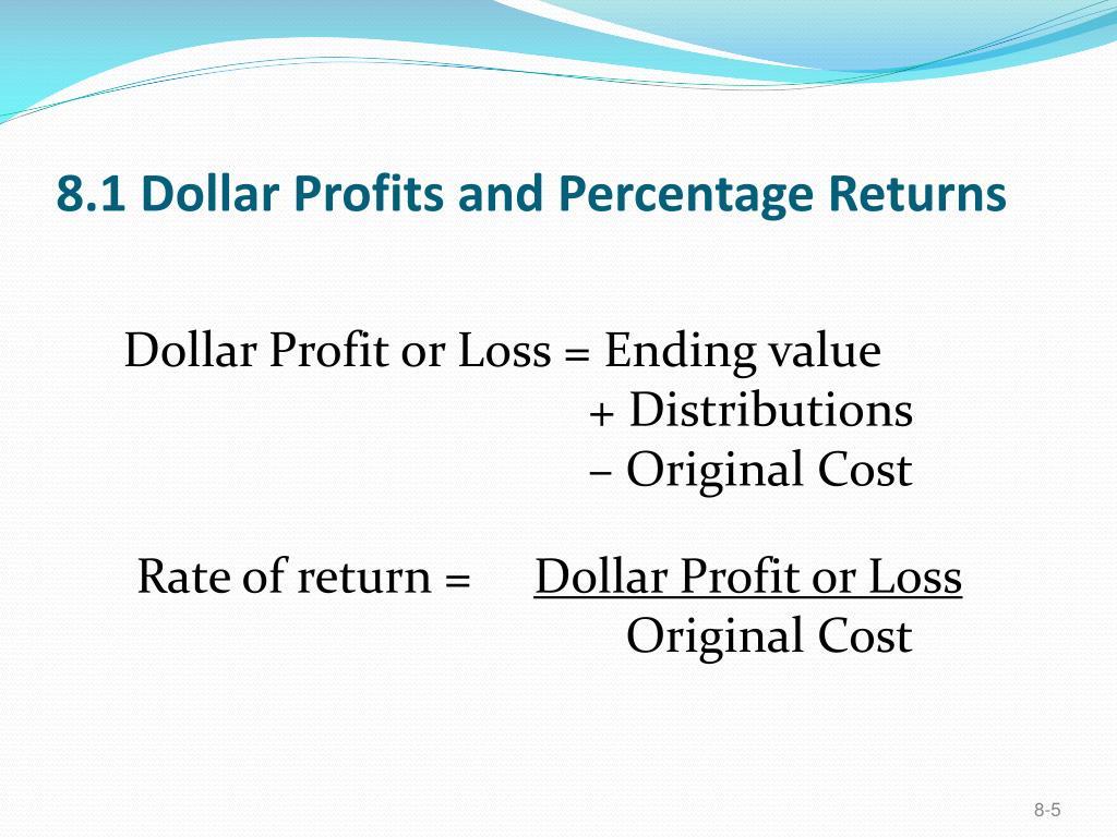 8.1 Dollar Profits and Percentage Returns