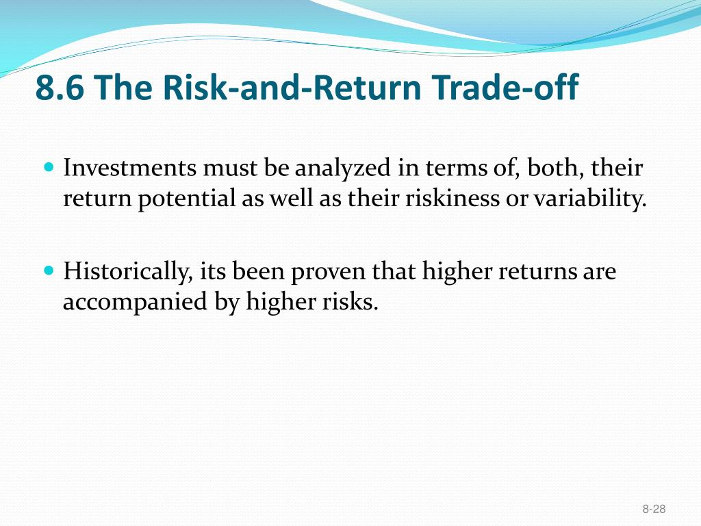 8.6 The Risk-and-Return Trade-off
