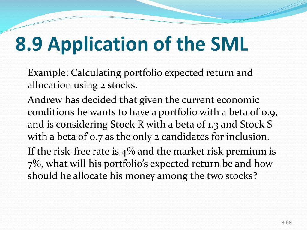 8.9 Application of the SML