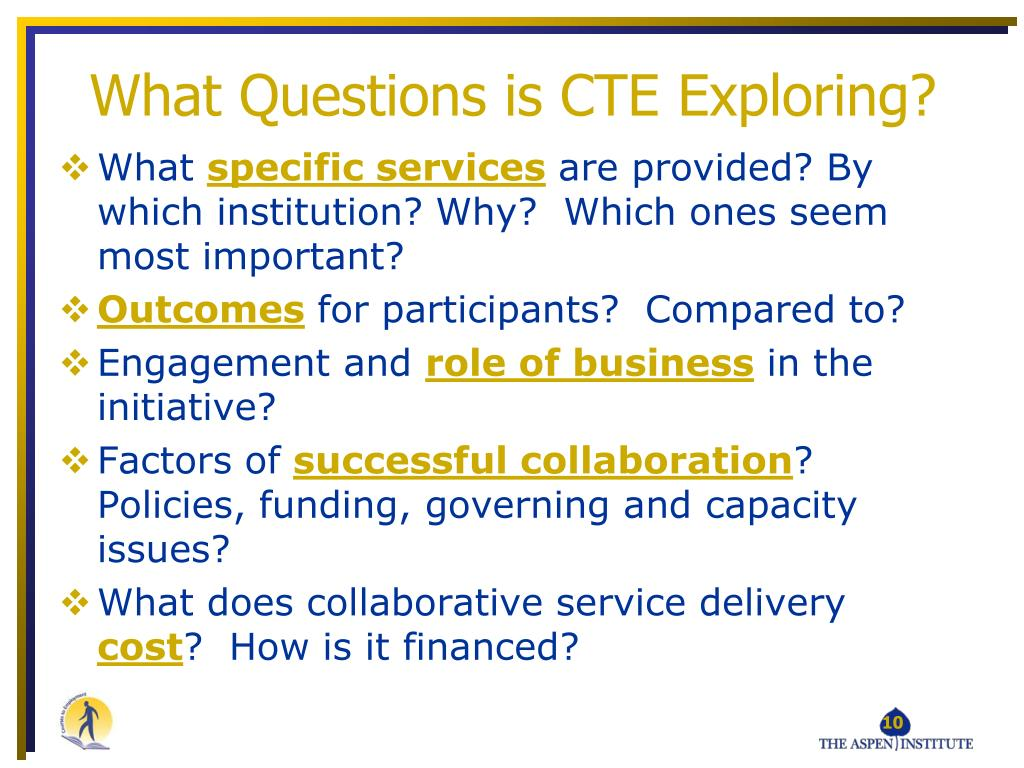 What Questions is CTE Exploring?