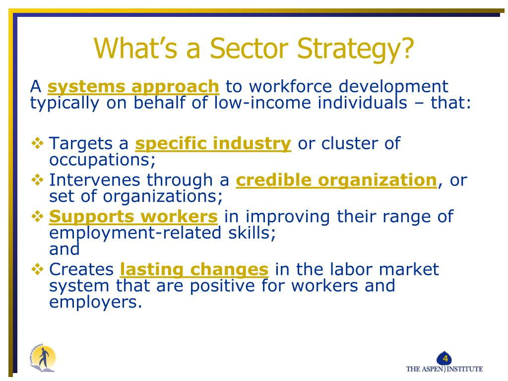 What's a Sector Strategy?