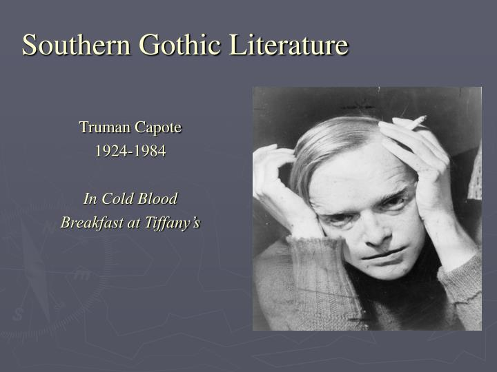 essay on southern gothic literature Southern gothic literary tradition jamie friend south university online miss emily grierson fits the description of southern gothic tradition in a rose for emily due to the fact that she is portrayed as a character with symptoms of mental illness that cause her to do horrific things.