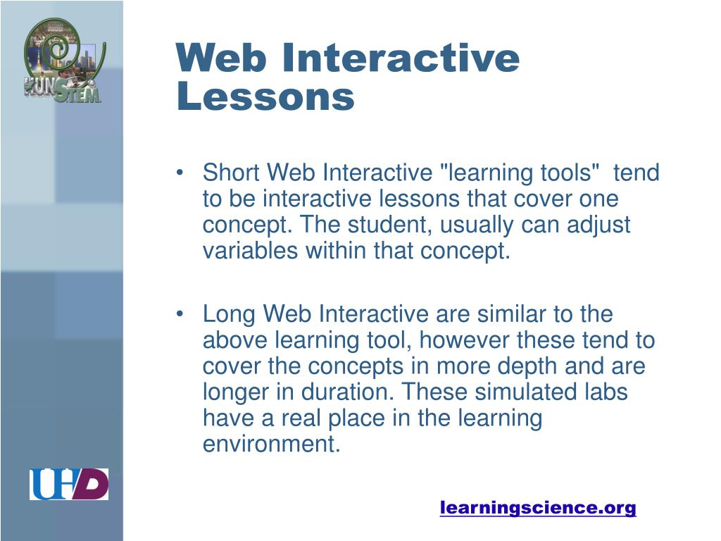 Web Interactive Lessons