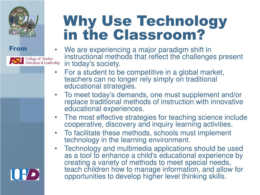 Why Use Technology in the Classroom?