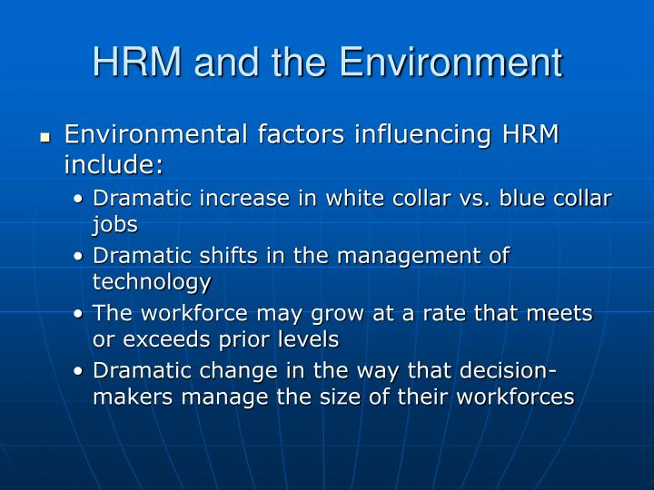 HRM and the Environment