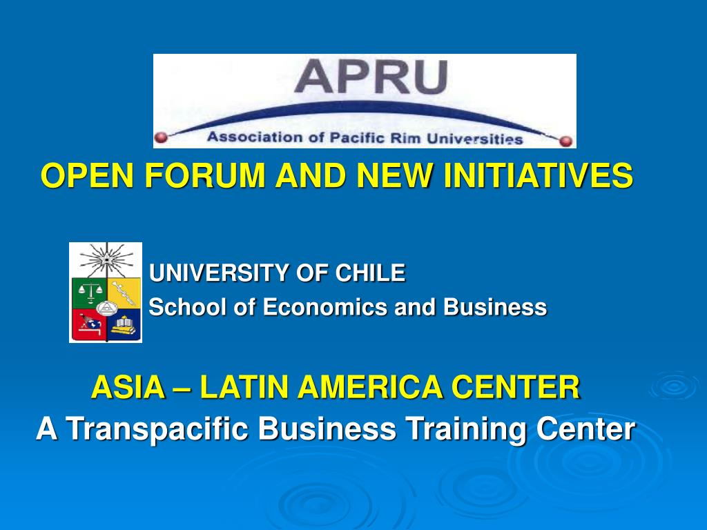open forum and new initiatives l.