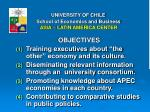 university of chile school of economics and business asia latin america center