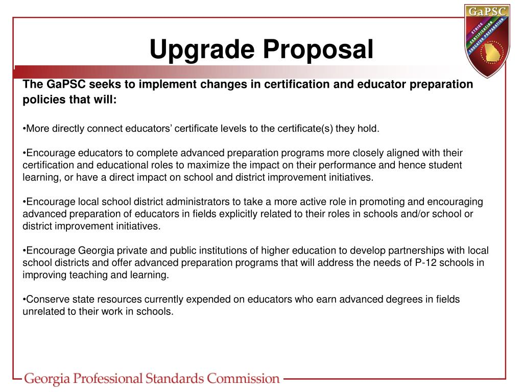 Upgrade Proposal