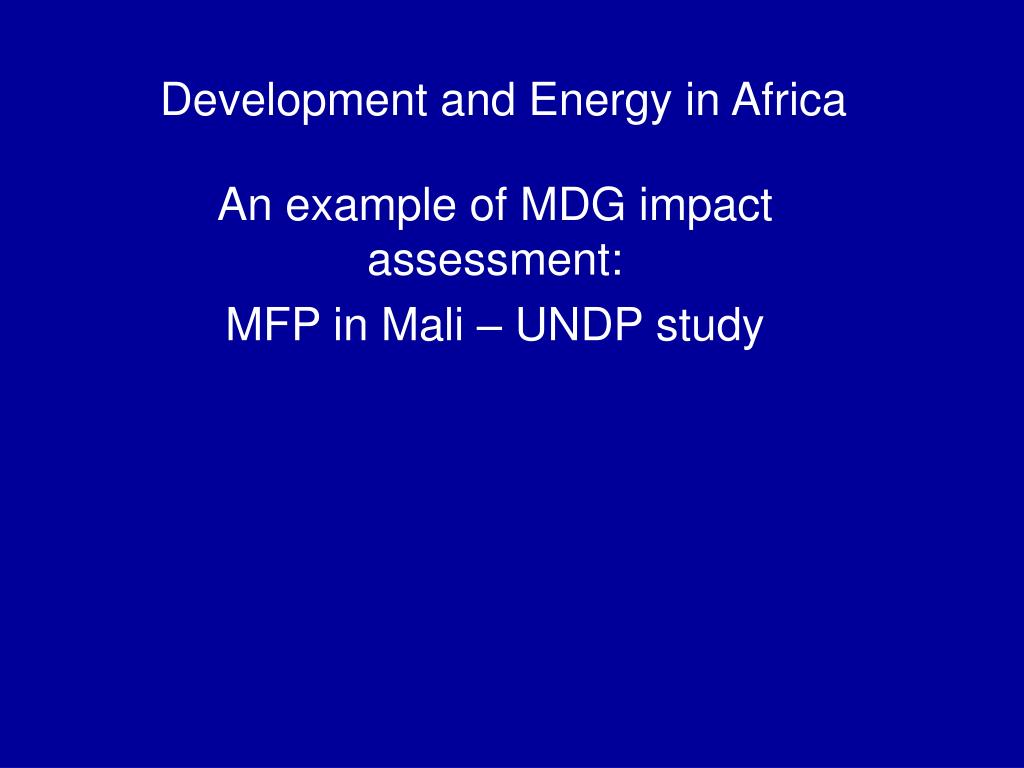 development and energy in africa l.