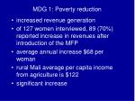 mdg 1 poverty reduction