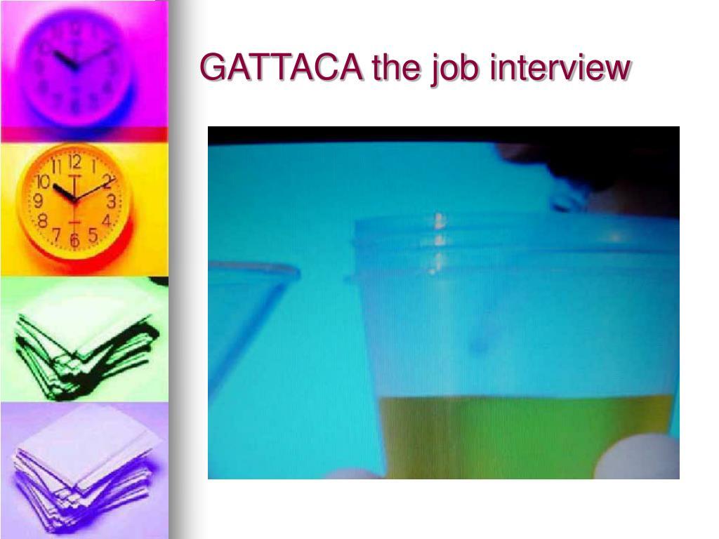 GATTACA the job interview
